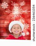 festive little girl showing... | Shutterstock . vector #236461054