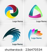 set of vector logo design... | Shutterstock .eps vector #236470534