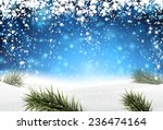 winter abstract blue background ... | Shutterstock .eps vector #236474164