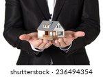 house in man's hands . business ... | Shutterstock . vector #236494354