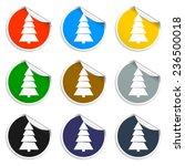 christmas tree. single flat... | Shutterstock .eps vector #236500018