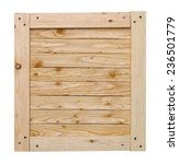 Wood Crate Lid With Copy Space...