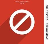 vector not allowed sign web... | Shutterstock .eps vector #236518489