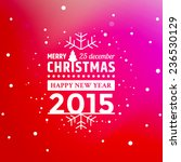 vector christmas greeting with... | Shutterstock .eps vector #236530129