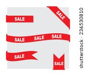 ribbons set | Shutterstock .eps vector #236530810