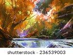 Digital Painting Of Beautiful...