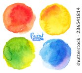 bright colors watercolor... | Shutterstock .eps vector #236541814