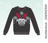 cute winter sweater | Shutterstock .eps vector #236542504