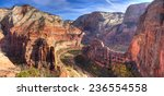 view of zion canyon from angels ... | Shutterstock . vector #236554558