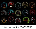 car speedometers on black... | Shutterstock .eps vector #236556733
