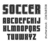 sanserif font in sport style... | Shutterstock .eps vector #236568508