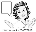 cute retro woman in comics... | Shutterstock .eps vector #236570818