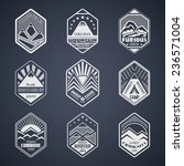 set of alpinist and mountain...   Shutterstock .eps vector #236571004