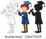 a drawing of a boy graduating...   Shutterstock .eps vector #236572429