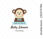 Baby Shower Card Design. Vecto...