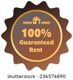 100  guaranteed rent vector... | Shutterstock .eps vector #236576890