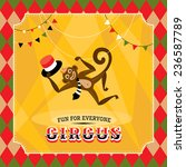 vintage circus card with a... | Shutterstock .eps vector #236587789