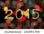 new year2015 written with... | Shutterstock . vector #236591704