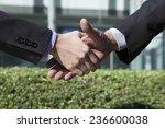 businessman to shake hands... | Shutterstock . vector #236600038