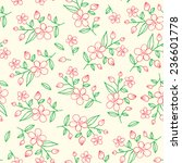 gentle seamless pattern of... | Shutterstock .eps vector #236601778