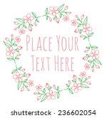 round frame flower garland  ... | Shutterstock .eps vector #236602054