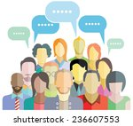 people social networking with... | Shutterstock .eps vector #236607553