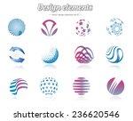 color design elements set ... | Shutterstock .eps vector #236620546
