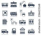 city infrastructure icons black ... | Shutterstock . vector #236623168