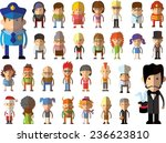 set of vector cute character... | Shutterstock .eps vector #236623810