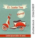 scooter motorbike retro vintage ... | Shutterstock . vector #236624809