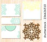 set of invitations | Shutterstock . vector #236626510