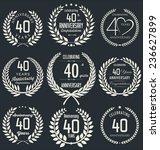 anniversary retro laurel wreath ... | Shutterstock .eps vector #236627899