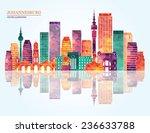 johannesburg city detailed... | Shutterstock .eps vector #236633788