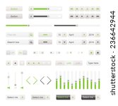 green ui elements vector....