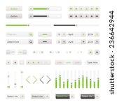 green ui elements vector....