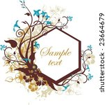 floral panel design with place... | Shutterstock .eps vector #23664679