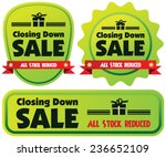closing down sale label or... | Shutterstock .eps vector #236652109