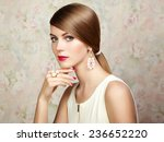 glamour portrait of beautiful... | Shutterstock . vector #236652220