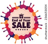 end of year sale vector label... | Shutterstock .eps vector #236653054