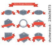 vector vintage set of labels...   Shutterstock .eps vector #236656573