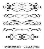 set of page decoration line... | Shutterstock .eps vector #236658988