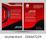 red brochure | Shutterstock .eps vector #236667229