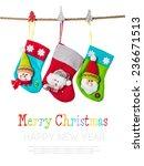 Christmas Stockings Isolated On ...
