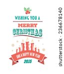 digitally generated merry... | Shutterstock .eps vector #236678140