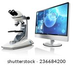 microscope and computer...   Shutterstock . vector #236684200