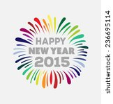 digitally generated happy new... | Shutterstock .eps vector #236695114