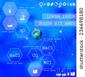 chemical. vector web and mobile ... | Shutterstock .eps vector #236698180