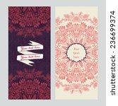 brochure design template with... | Shutterstock .eps vector #236699374