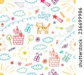 children drawings color... | Shutterstock .eps vector #236699986