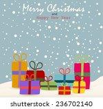 christmas git box  | Shutterstock .eps vector #236702140